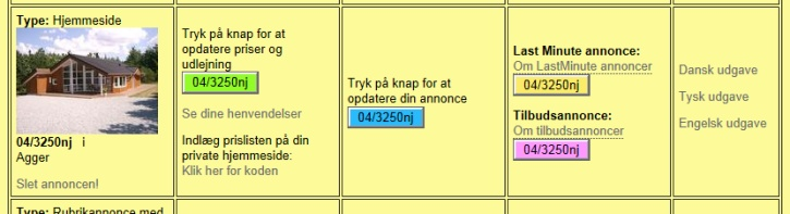 Kontrolpanel - Klik for at komme til login-siden på  Ferieboligweb.dk